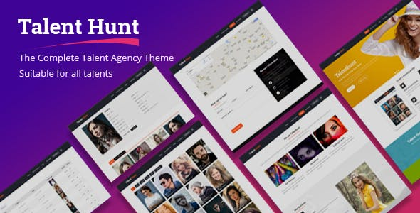 talent hunt wordpress theme for model talent management services