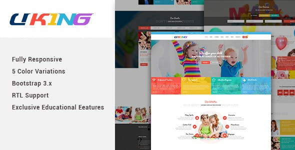 babysitter kids joomla template from themeforest