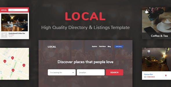 Business listing website templates from themeforest business directory listing local friedricerecipe Image collections