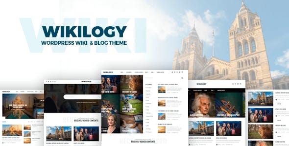 Wikilogy Wiki Blog Wordpress Theme By Gloriathemes Themeforest