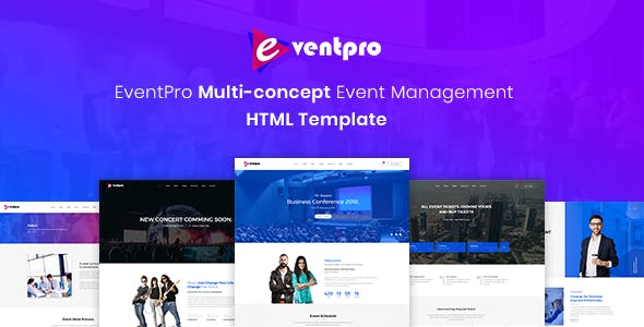 Event Management HTML Website Templates from ThemeForest