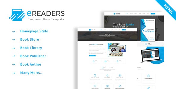 Ebooks HTML Website Templates From ThemeForest