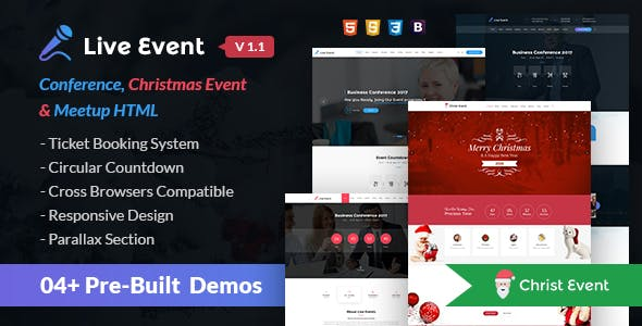 Event and Event Management HTML Website Templates