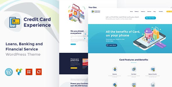 Credit Card Experience | Credit Card Company and Online Banking WordPress Theme