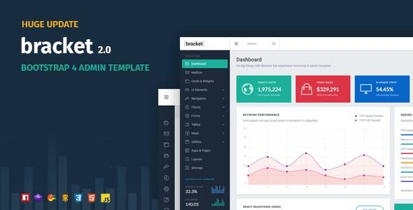 Bracket Responsive Bootstrap 4 Admin Template