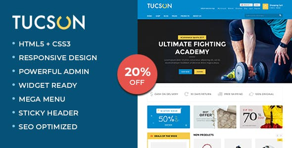 650685ad86827d Online Sports Shop Templates from ThemeForest