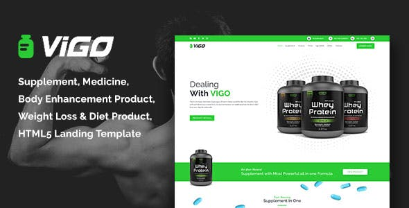 Nutrition supplements stores ecommerce website templates.