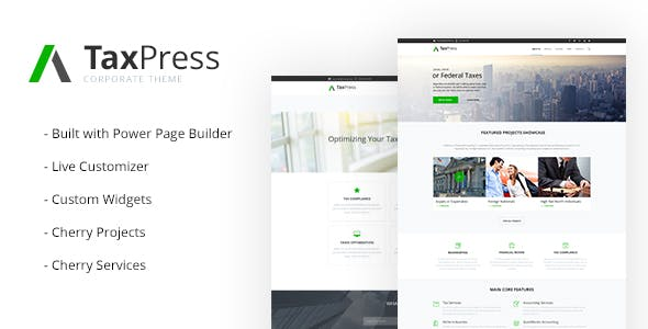 Tax Preparation Website Templates From ThemeForest - Tax website templates
