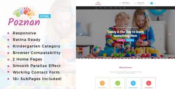 Child Care Kids\' HTML Website Templates from ThemeForest
