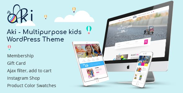 Aki - Multipurpose Kids WordPress Theme