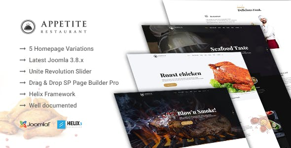 joomla food templates from themeforest