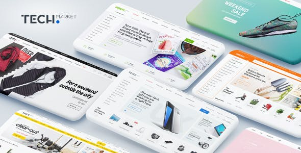 techmarket multi demo electronics store html template