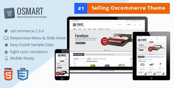 OSMART – Responsive osCommerce template nulled theme download