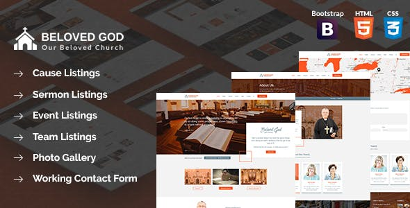 HTML Church Website Templates from ThemeForest