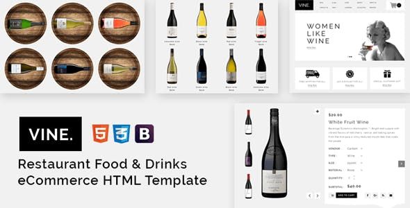 vine website templates from themeforest