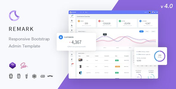 Remark Responsive Bootstrap 4 Admin Template By Creation Studio