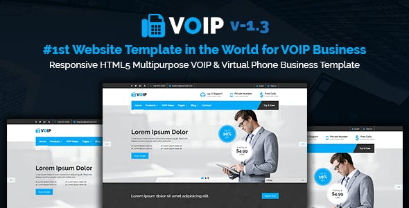 Voip business website templates from themeforest voip responsive html5 multipurpose voip virtual phone business template friedricerecipe Choice Image