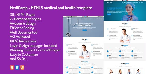 Pharmacy html website templates from themeforest page 2 medicamp html5 medical and health template maxwellsz