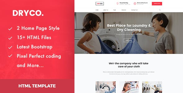 Laundry Templates From Themeforest