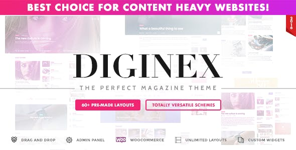 download Diginex - Magazine, Blog, News and Viral WordPress Theme nulled