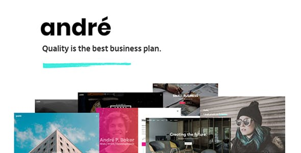 Small business owner website templates from themeforest andr a contemporary wordpress theme for small business owners and creatives flashek Images
