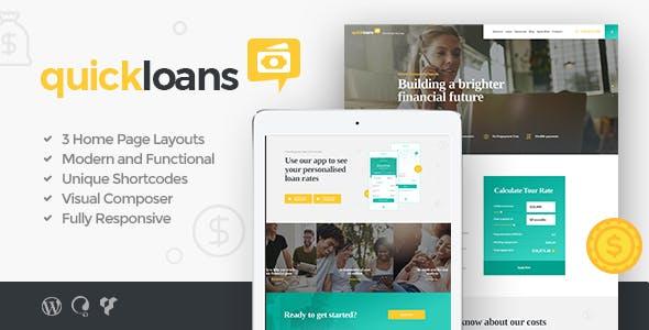 QuickLoans | Loan Company WordPress Theme