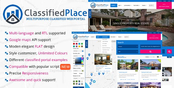 Classified php website templates from themeforest real estate geo classified ads maxwellsz