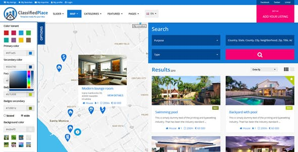 Classified php website templates from themeforest real estate geo classified ads real estate geo classified ads maxwellsz
