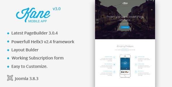 Kane Responsive Bootstrap 3 App Landing Page Apps Cms Website