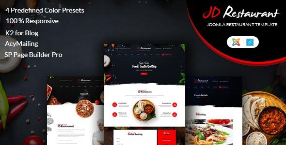 joomla restaurant cafe templates from themeforest
