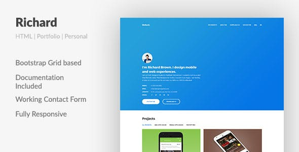 ux design portfolios templates from themeforest