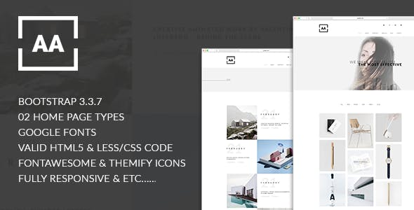 portfolio layout templates from themeforest