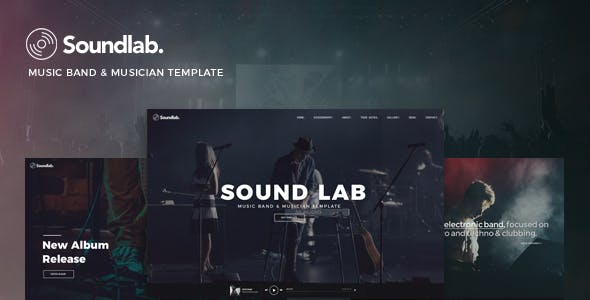 record label html website templates from themeforest