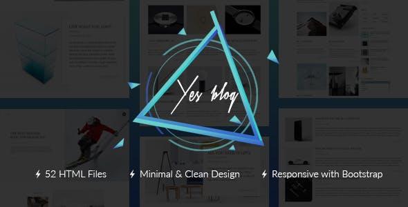 Laptop 3d website templates from themeforest yes blog multipurpose minimal blog design html template maxwellsz