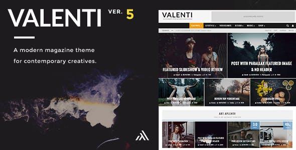 Valenti - WordPress HD Review Magazine News Theme by codetipi