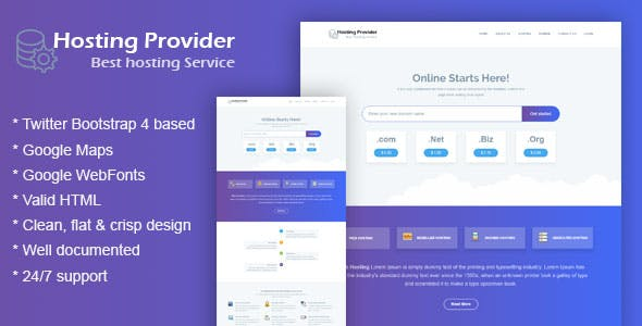 Hosting Html Template For Web Technologies Company