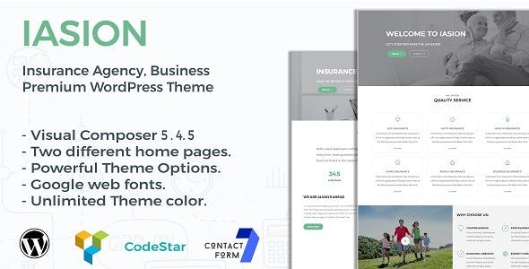 Iasion | Insurance Agency WordPress Theme
