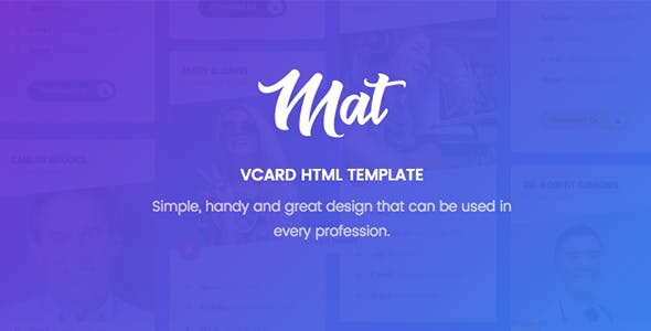 Virtual business card html business card website templates mat vcard resume template cheaphphosting Images