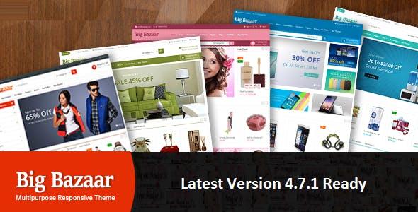 BigBazaar - Multipurpose Responsive CS-Cart Theme nulled theme download