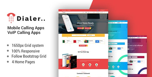 Telecom Templates from ThemeForest
