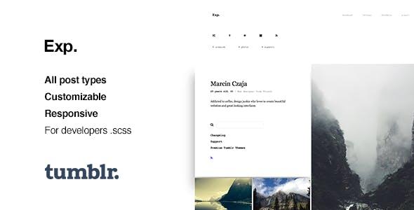 Exp Minimalist Portfolio Tumblr Theme By Roseathemes Themeforest