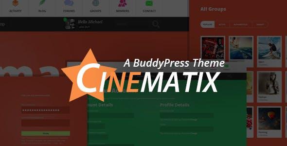 Cinematix - BuddyPress Theme nulled theme download