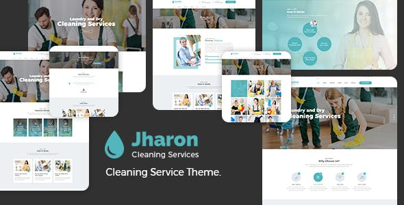 Jharon - Cleaning Service WordPress Theme + RTL