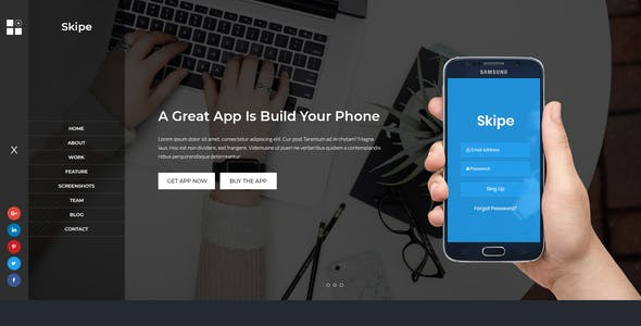 Android Professional Corporate PSD Templates from ThemeForest