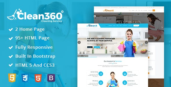 Pest Control Services Website Templates from ThemeForest
