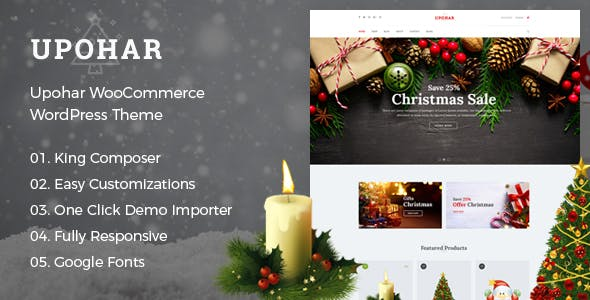 new year clear all upohar christmas woocommerce wordpress theme