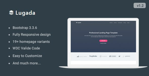 Flat Landing Pages Templates From ThemeForest