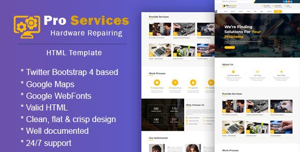 Computer repair support website template fresh computer website.
