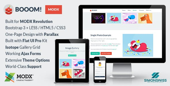 Booom! - Bootstrap Flat UI Pro Theme For MODX nulled theme download