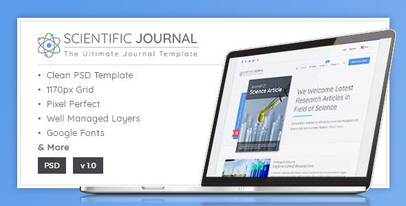 Academic Journal Website Templates from ThemeForest